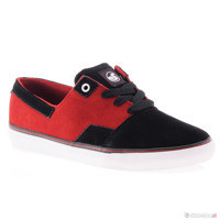 black/red suede