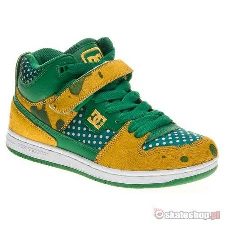 DC Jersey City SE WMN green/gold shoes