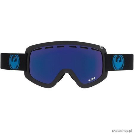 DRAGON D1 (jet/dark smoke blue+yellow/red) snow goggles