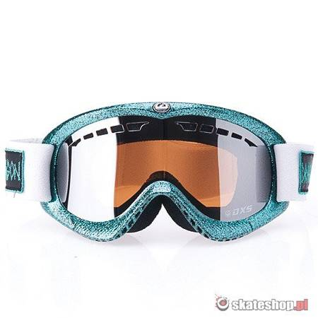 DRAGON DXS (hog wild teal/ion) snow goggles + Bonus Rose Lens !!