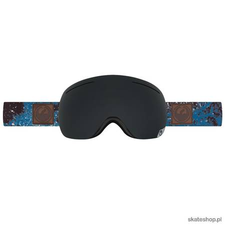 DRAGON X1 (patina blue / dark smoke + yellow red ion) snow goggles