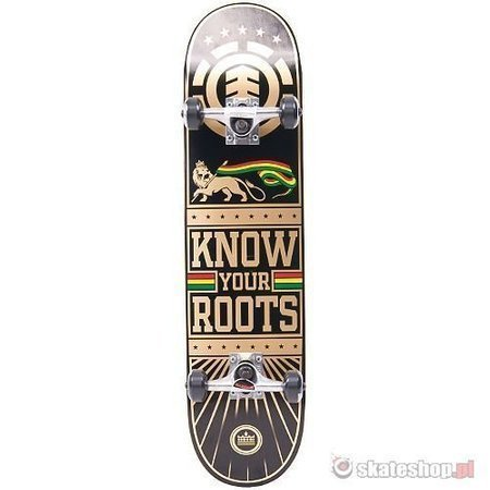 ELEMENT Know Your Roots (black/gold/rst) 7.75 skateboard