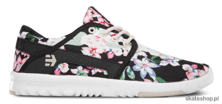 ETNIES Scout W (black/floral) shoes