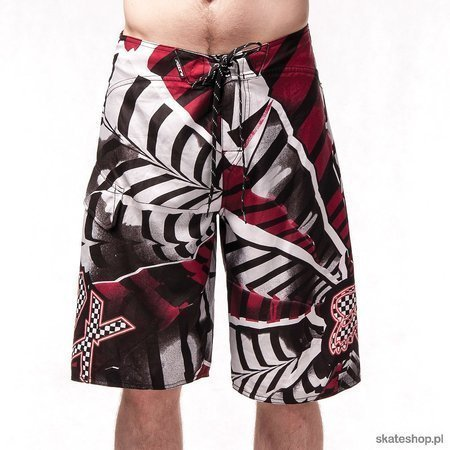 FOX Shattered (grey/red) boardshorts