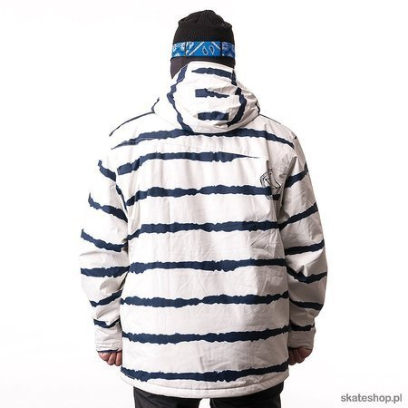 SESSIONS Pals Tiestripe (white) snow jacket