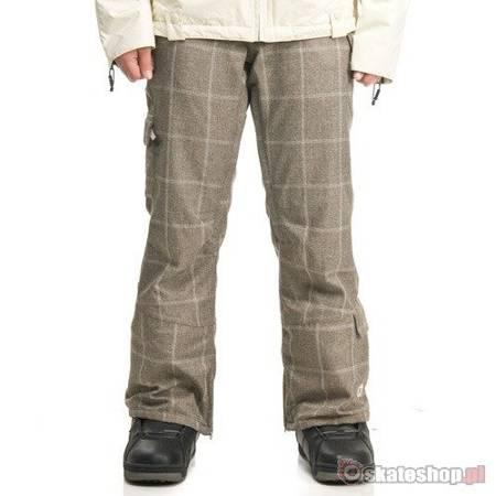 SESSIONS Switch Window Plaid WMN desert/smoke snowboard pants