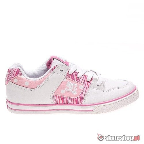 DC Pure Kids white/super pink shoes