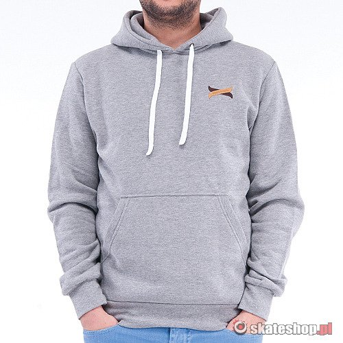 TURBOKOLOR Moder Hood (heather grey) hoodie