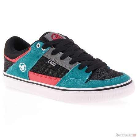 Buty DVS Ignition CT 13 (black/teal suede) czarno-turkusowe