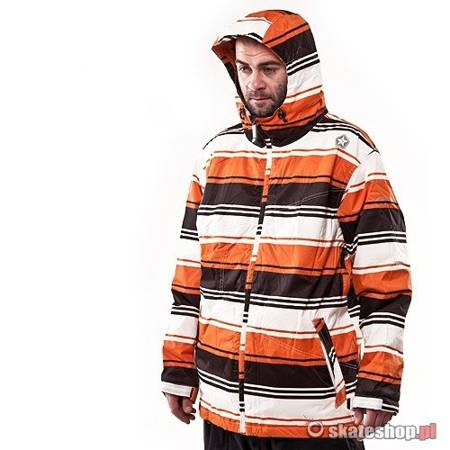 Kurtka snowboardowa SESSIONS Truth Retro Stripe (orange retro stripe)