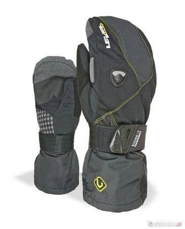 Rękawice snowboardowe LEVEL Fly Mitt (black/yellow)