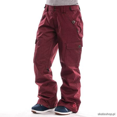 Spodnie snowboardowe SESSIONS Motion Crosshatch WMN (burgundy) bordowe