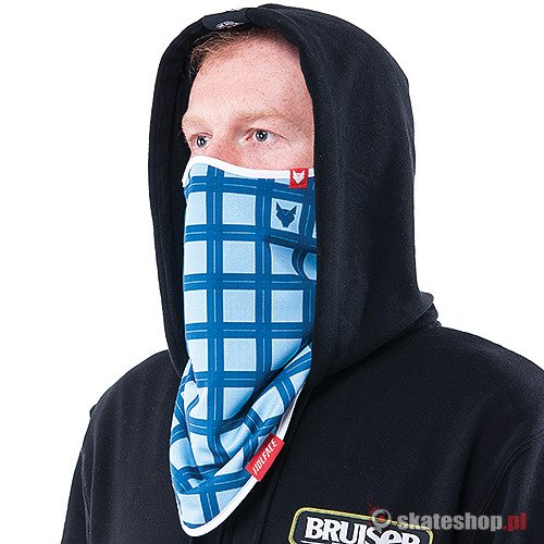 Bandana WOLFACE Checked (blue/dark blue) niebieska