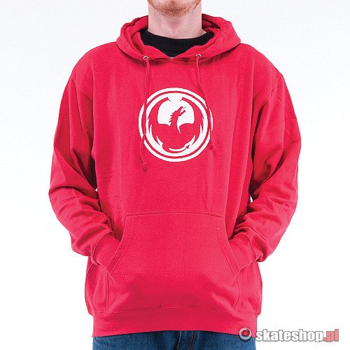 Bluza DRAGON Icon Hood (red) czerwona smpl