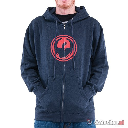Bluza DRAGON Icon Zip (navy) granatowa smpl