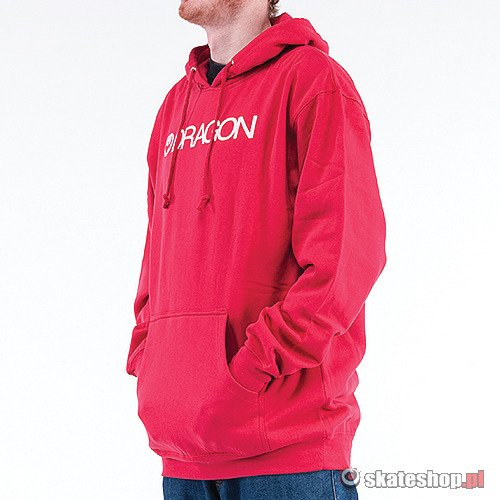 Bluza DRAGON Trademark Hood (red) czerwona smpl