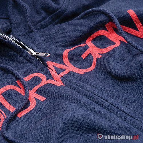 Bluza DRAGON Trademark Zip (navy) granatowa smpl