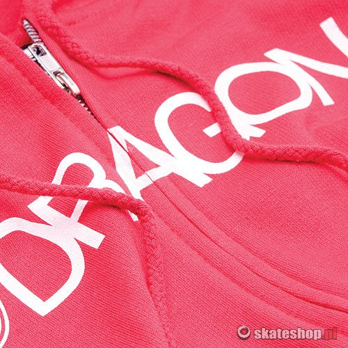 Bluza DRAGON Trademark Zip (red) czerwona smpl