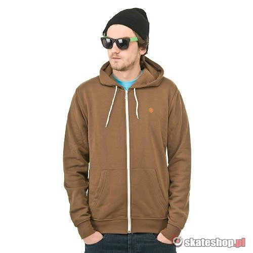 Bluza ELEMENT Smith III (mocha) brązowa kaptur zip
