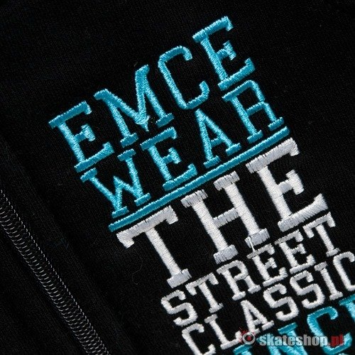 Bluza MC Wear Vertical (black/turquoise) czarno-turkusowa zip