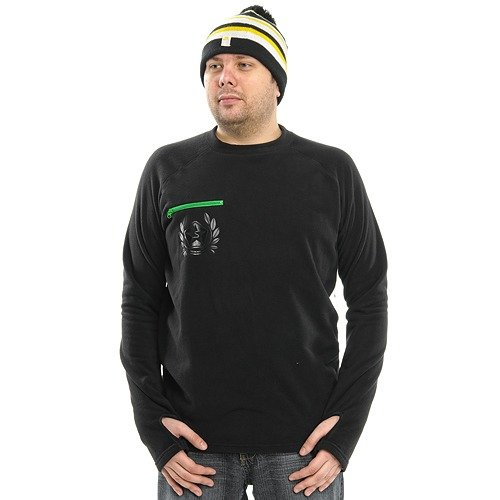 Bluza SESSIONS  Buttery Fleece Crew (black magic) czarny