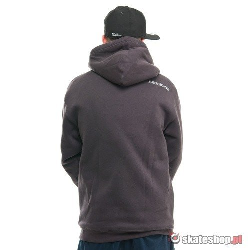 Bluza SESSIONS Firebird (heavy grey) ciemnoszara kaptur zip