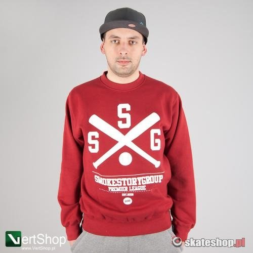 Bluza SMOKESTORY Baseball (bordowa)