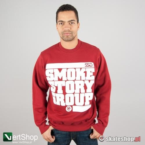 Bluza SMOKESTORY Circle (bordowa)
