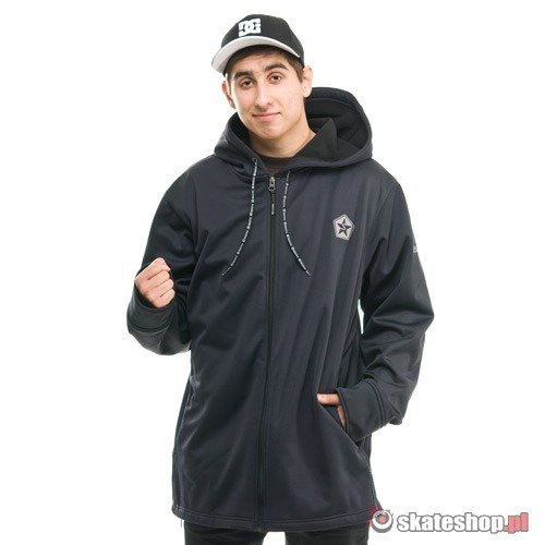 Bluza Softshell SESSIONS Kreuger Solid (black) czarna kaptur zip