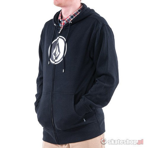 Bluza VOLCOM Circle Stone Basic Zip (black) czarna