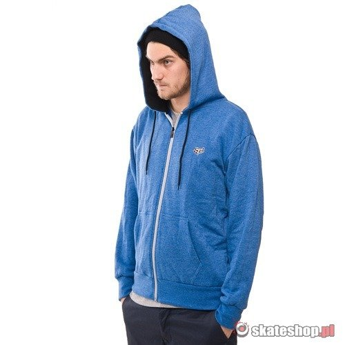 Bluza z kapturem FOX Mr. Clean (heather blue) niebieska zip