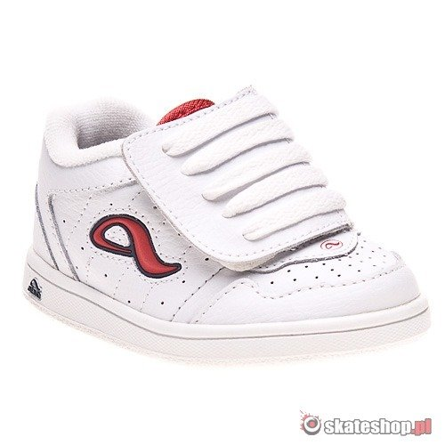 Buty ADIO Kenny Toddlers (white/athletic red) czarno-szare