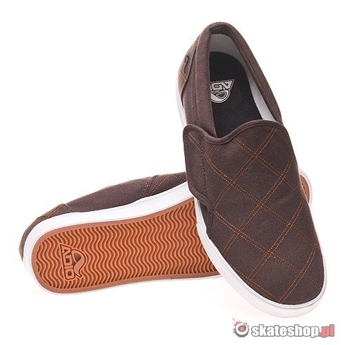 Buty ADIO Slip (brown/plaid) brązowe 451