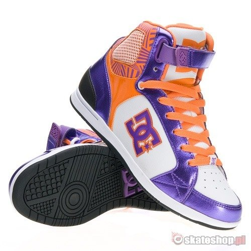 Buty DC Avery High WMN (black/purple/orange) kolorowe