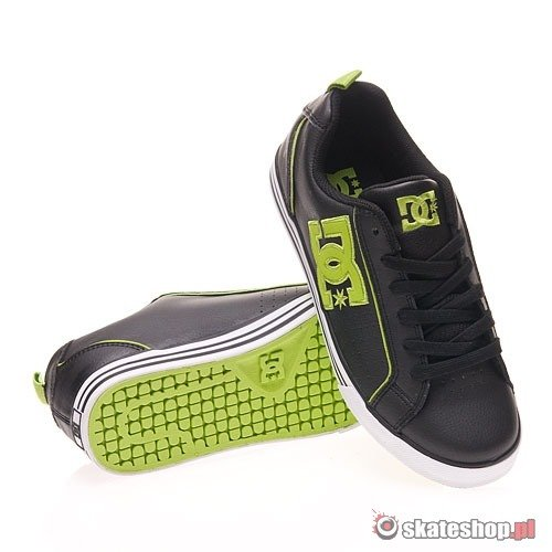 Buty DC Conquer Wmn (black/soft lime) czarno-zielone