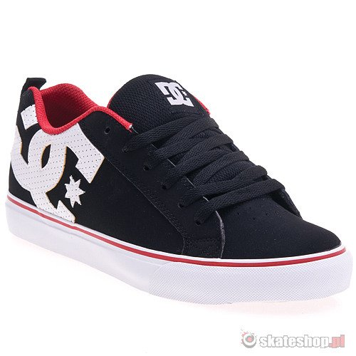 Buty DC Court Vulc (black/red) czarne