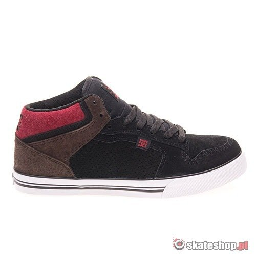 Buty DC Fitz Mid S (black/dark chocolate/b.red) czarno-brązowe
