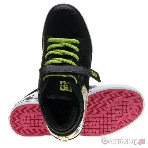 Buty DC VOLCANO (black/white/soft lime) czarne