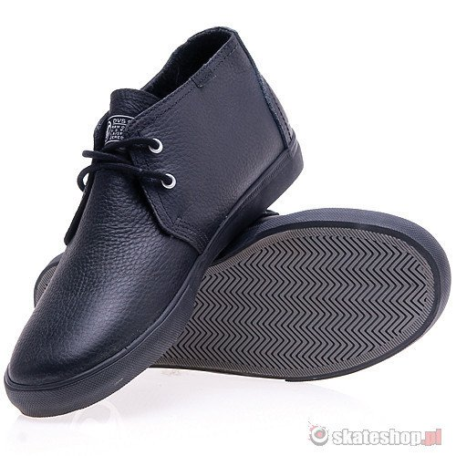 Buty DVS Dash (black leather) czarne smpl