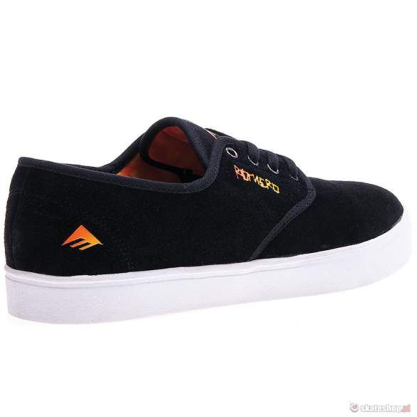 Buty EMERICA Laced by Leo Romero '13 (black/orange/white) czarne