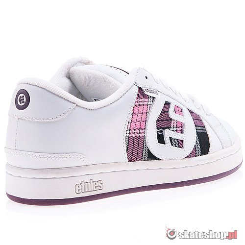 Buty ETNIES Drop Out WMN (white/plaid) białe