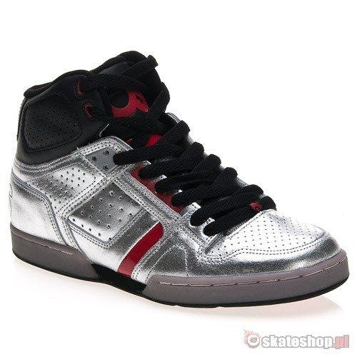 Buty OSIRIS BRONX SLIM (black/red/mirror) srebrne