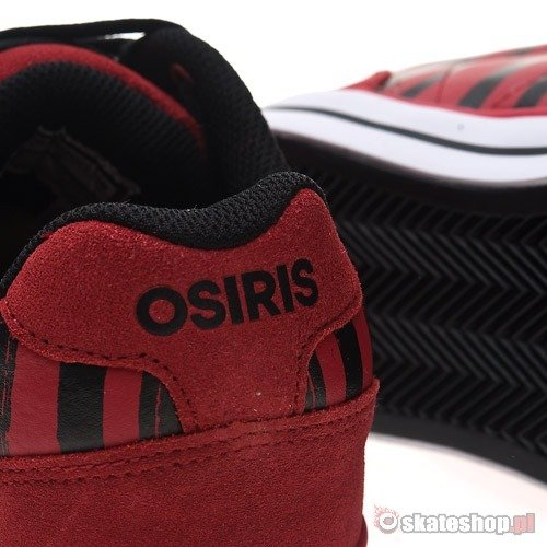 Buty OSIRIS CLIP (red/white/stripes) czerwone