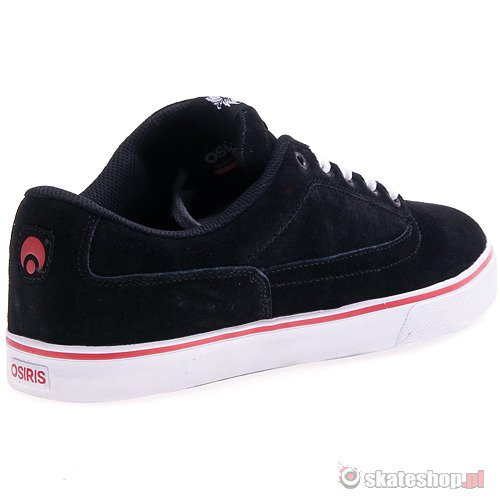Buty OSIRIS Caswell VLC (black/white/red) czarne