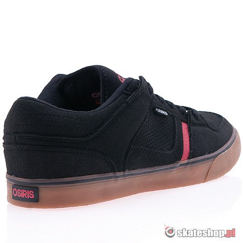 Buty OSIRIS Chino Low (black/gum/red) czarne