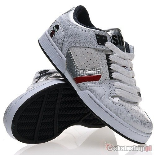 Buty OSIRIS HARLEM WMN (lucy lies/robt/white/silver/red) białe