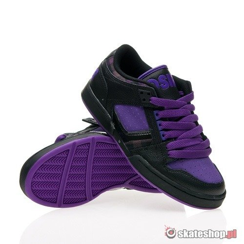 Buty OSIRIS NYC 83 Low WMN (black/purple/plaid) czarno-fioletowe