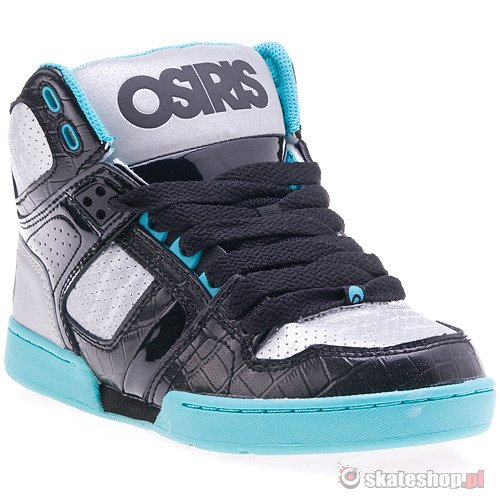 Buty OSIRIS NYC 83 (black/gunmetal/sea) czarno-turkusowe