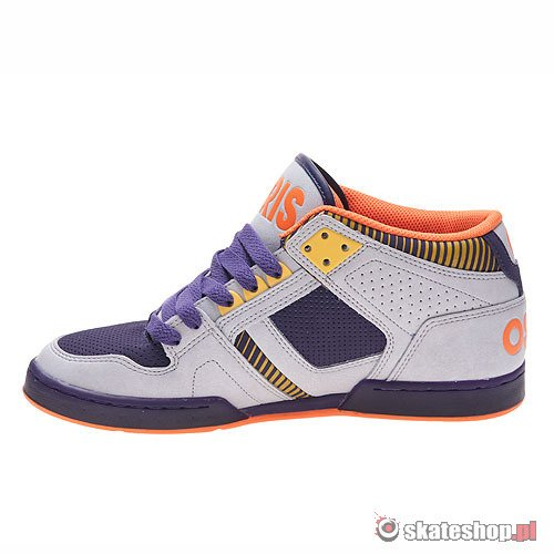 Buty OSIRIS NYC83 MID (grey/purple/orange) szaro-fioletowe