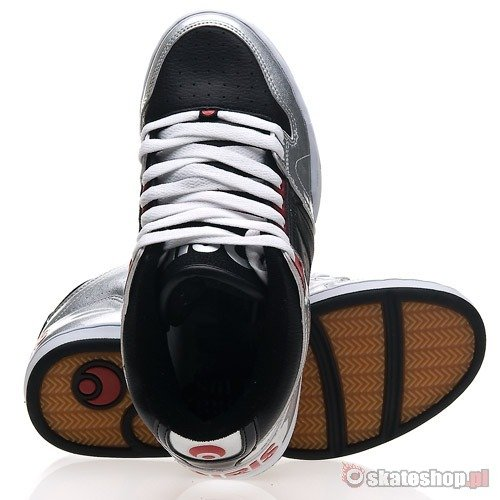 Buty OSIRIS SOUTH BRONX (silver/black/red) srebrno-czarne